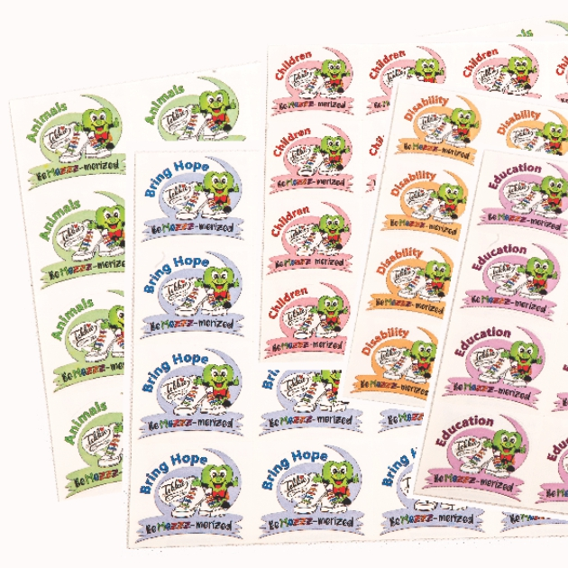 STICKER SHEETS 20 UP @ R200